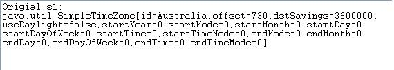 Java SimpleTimeZone Example