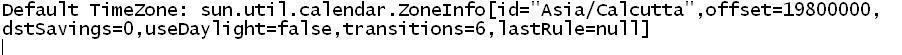 Java TimeZone Example