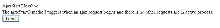jQuery ajaxStart Method Example1