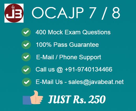 OCAJP Javabeat Sales Promotion