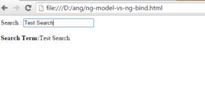 ng-mode vs ng-bind 1