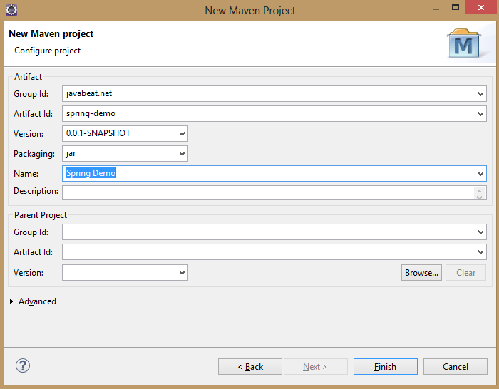 Maven Project without Archtype