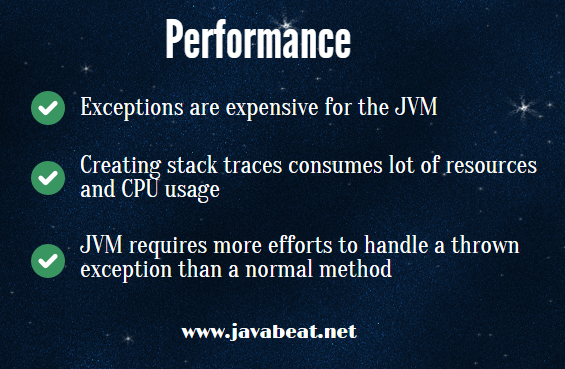 Java Exceptions Performance