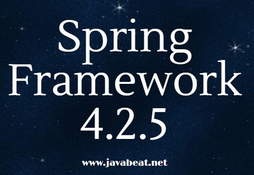 Spring Framework 4.2.5