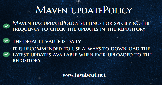 Maven updatePolicy Settings