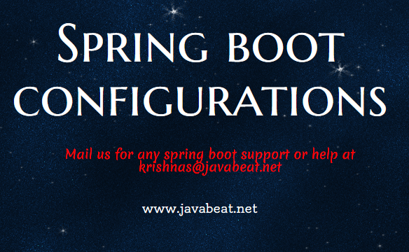 Spring Boot Configurations