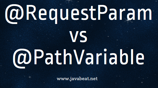 @RequestParam vs @PathVariable Tutorial