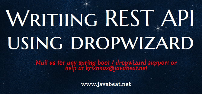 How to write REST API using DropWizard?